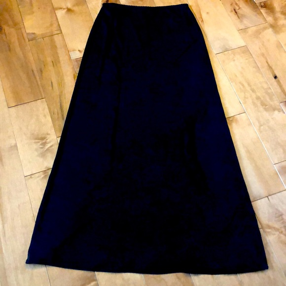 Black maxi skirt size small